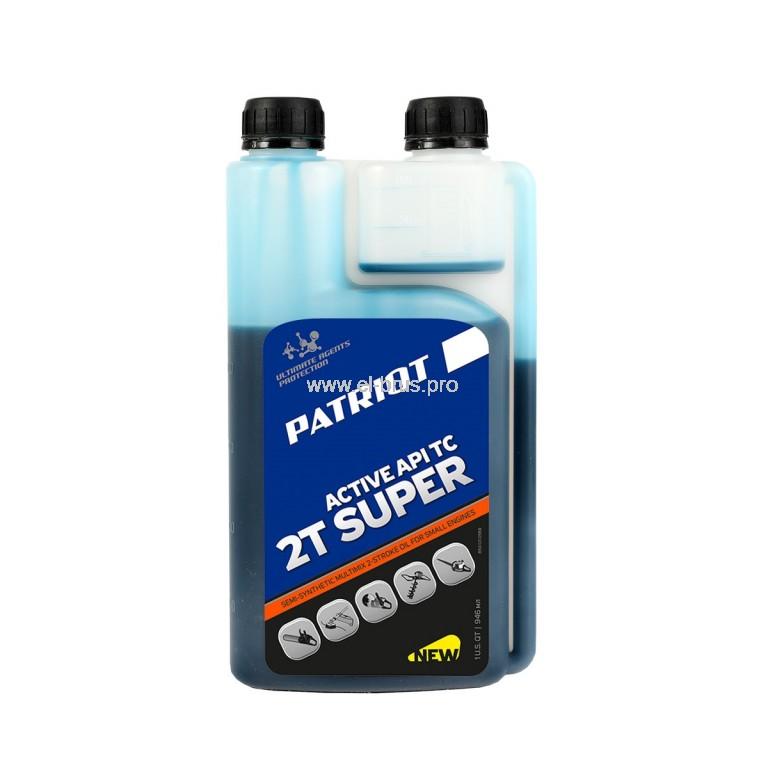 Масло моторное полусинт. 2Т PATRIOT Super Active  946мл