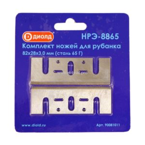 Набор ножей для эл. рубанка  82х28х3мм 65Г ДИОЛД НРЭ-8865