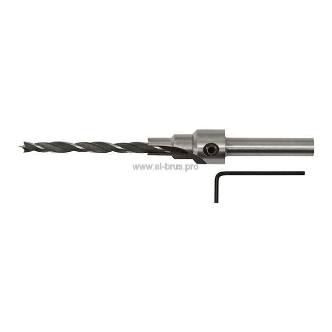 Сверло для мебельных стяжек Ø5х9,5мм для стяжки 7х50мм FIT