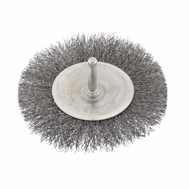 Щетка для дрели плоская витая метал. СИБРТЕХ Ø100x6x0,3мм