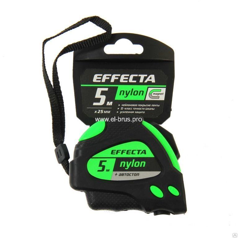 Рулетка EFFECTA Nylon 25мм L-5м