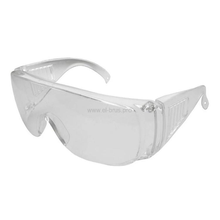 Очки защитные с дужками прозрачные FIBERON Профи