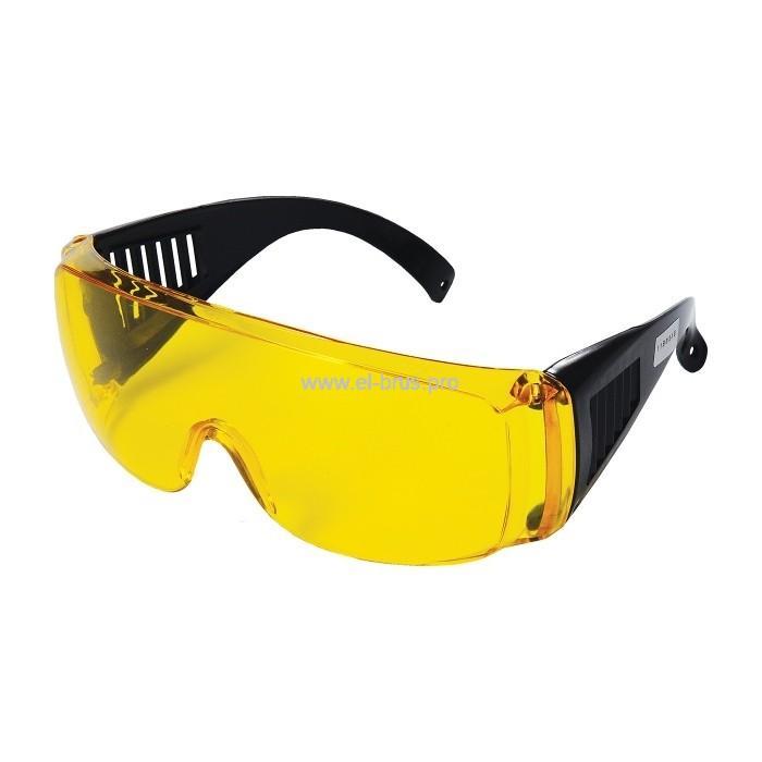 Очки защитные с дужками желтые ПОЛИТЕХ