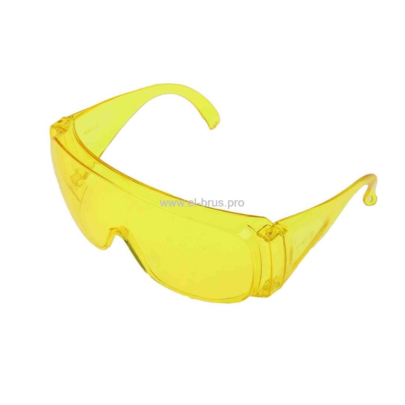 Очки защитные с дужками желтые СИБРТЕХ