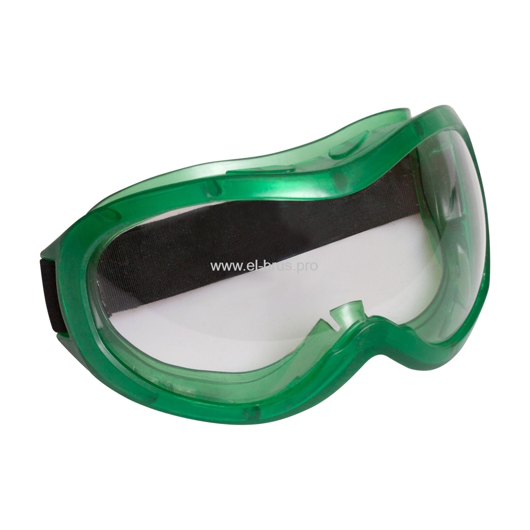 Очки защитные Панорама зеленые СИБРТЕХ