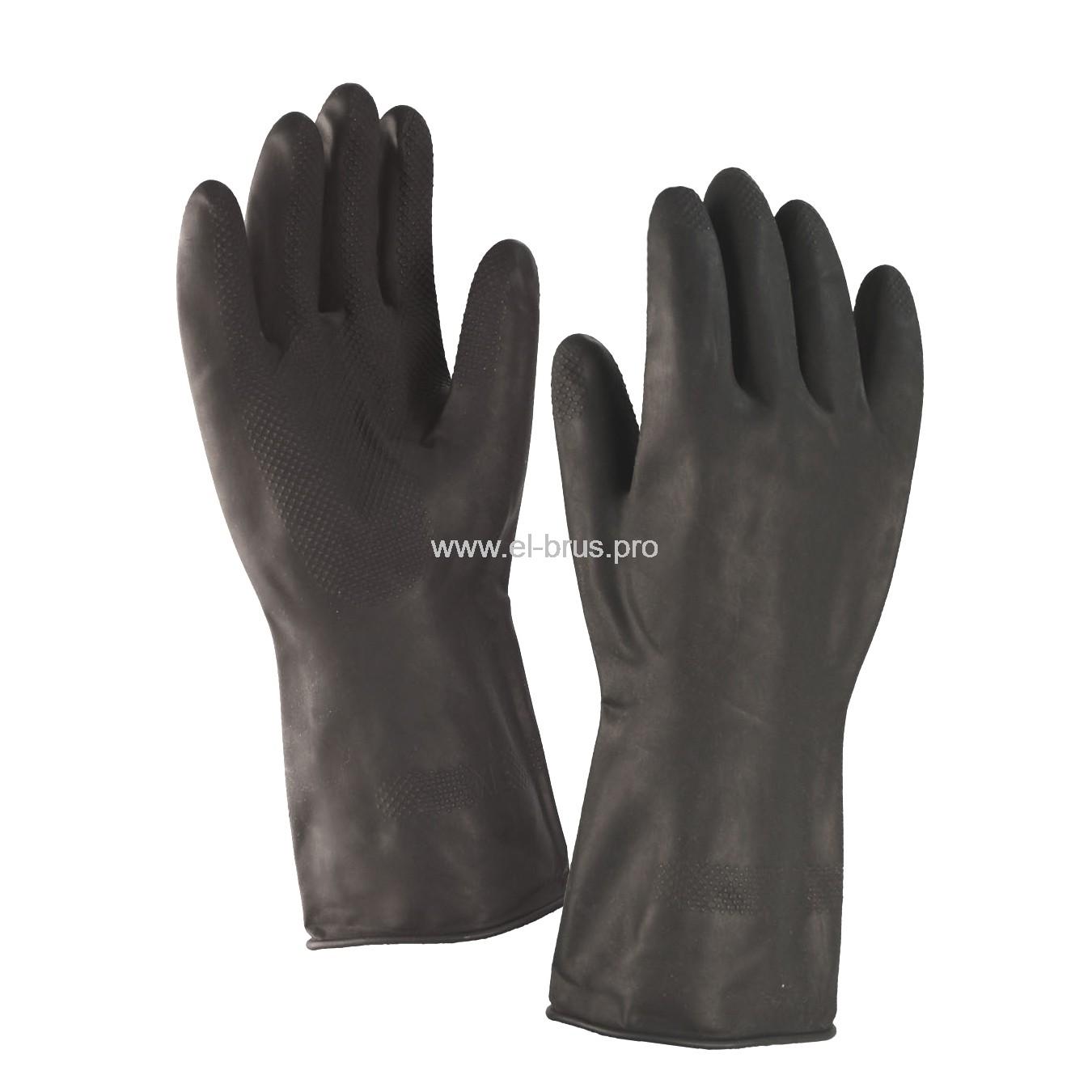 Перчатки латекс. кислотно-щелочные КЩС, тип 2, размер №10