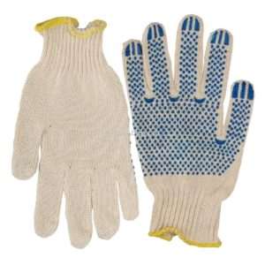 Перчатки х/б с ПВХ 5-нит. белые