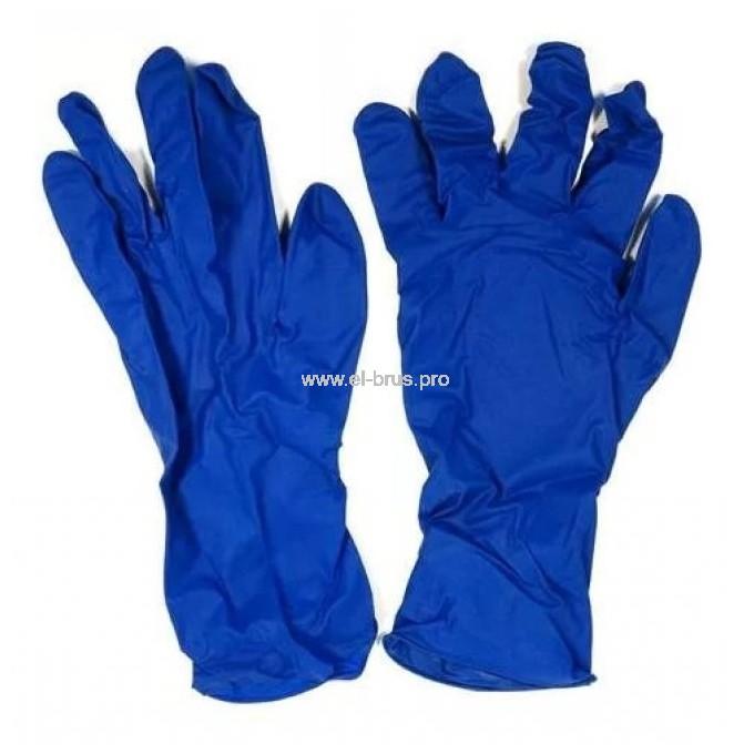 Перчатки латекс. повыш. прочн. синий L