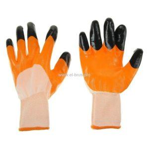 Перчатки 2-й облив 3/4 бел., оранж., черн. Ноготок