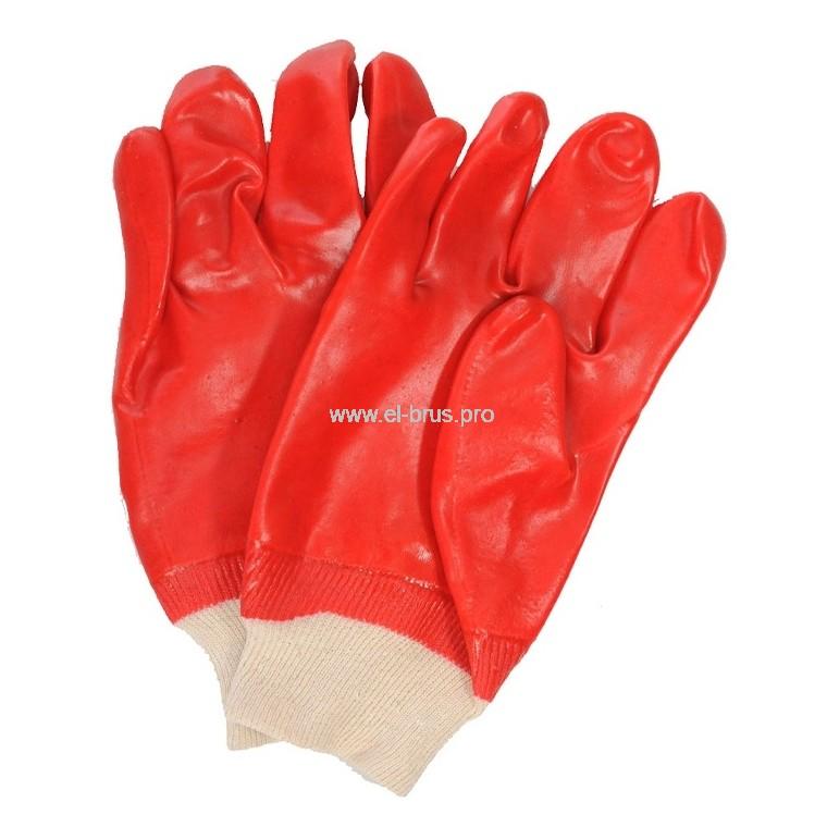 Перчатки маслобензостойкие красные МБС