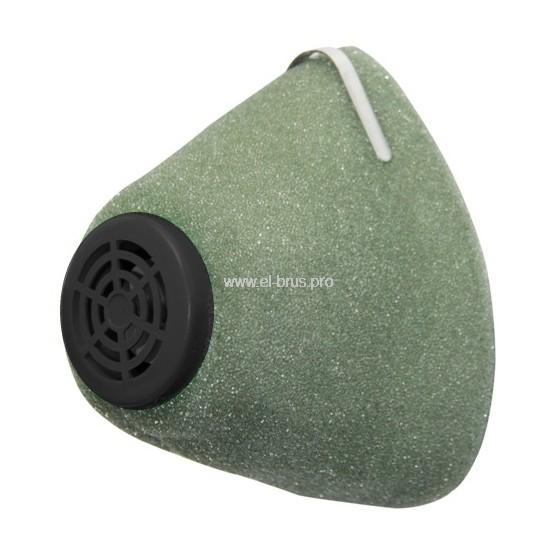 Полумаска фильтрующая У-2К поролон зеленый
