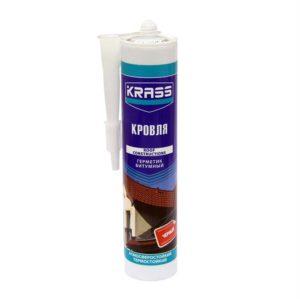 Герметик битумный для кровли черный KRASS 300мл