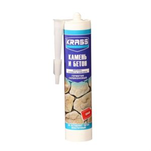 Герметик силиконовый для бетона и камня серый KRASS 300мл