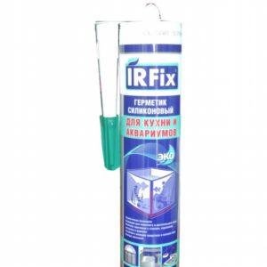 Герметик силиконовый для кухни и аквариумов бесцветный IRFIX 310мл