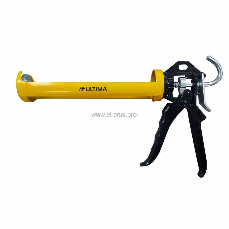 Пистолет для герметика полуцилиндрический ULTIMA 310мл