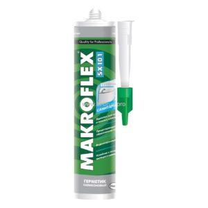 Герметик силиконовый санитарный белый SX 101 MAKROFLEX  290мл
