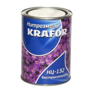 Нитроэмаль универсальная черная KRAFOR НЦ-132 0,7кг