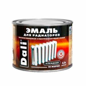 Эмаль алкидная для радиаторов отопления белоснежная DALI 0,5кг