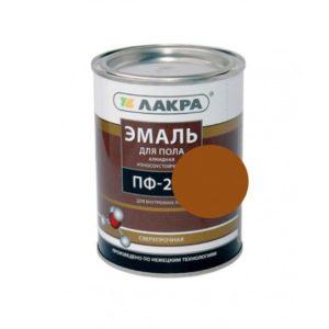 Эмаль алкидная для пола желто-коричневая ЛАКРА ПФ-266 1кг