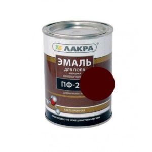 Эмаль алкидная для пола красно-коричневая ЛАКРА ПФ-266 1кг