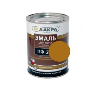 Эмаль алкидная для пола золотисто-коричневая ЛАКРА ПФ-266 3кг