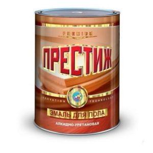 Эмаль алкидно-уретановая для пола красно-коричневая ПРЕСТИЖ 0,9кг