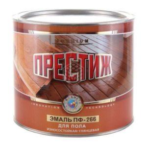 Эмаль для пола красно-коричневая ПРЕСТИЖ ПФ-266 1,9кг