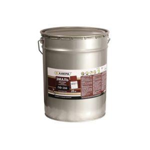 Эмаль алкидная для пола красно-коричневая ЛАКРА ПФ-266 20кг