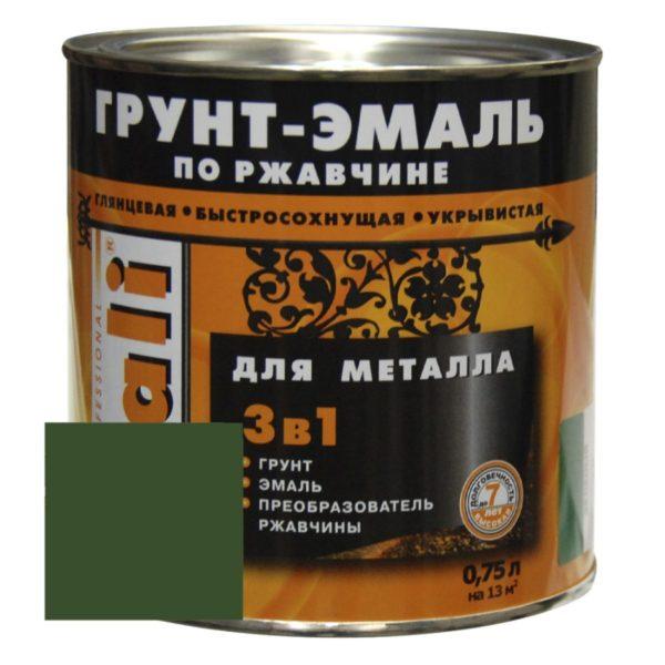 Грунт-эмаль по ржавчине зеленая DALI  0,75л
