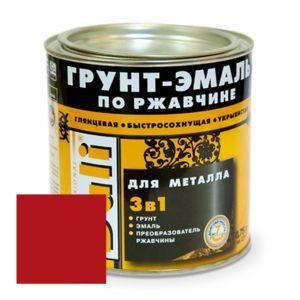 Грунт-эмаль по ржавчине винно-красная DALI  0,75л