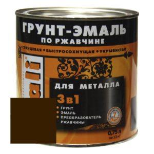 Грунт-эмаль по ржавчине коричневая DALI  0,75л