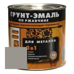 Грунт-эмаль по ржавчине серая DALI  0,75л