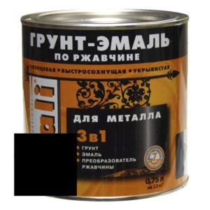 Грунт-эмаль по ржавчине черная DALI  0,75л