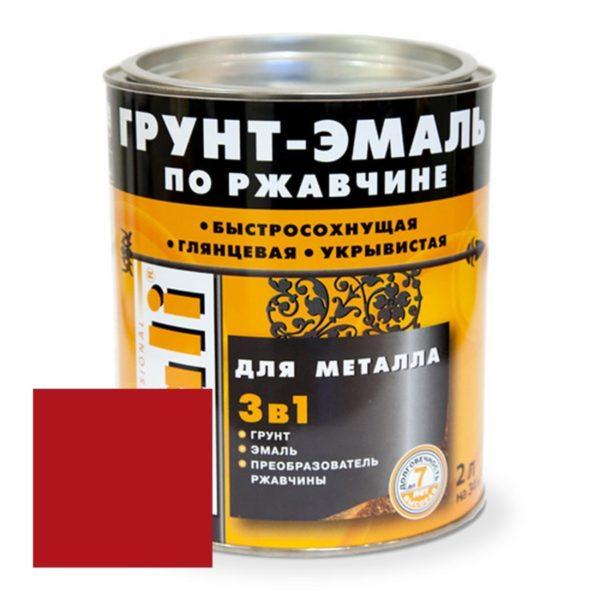Грунт-эмаль по ржавчине винно-красная DALI  2л