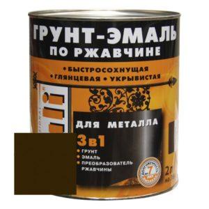 Грунт-эмаль по ржавчине коричневая DALI  2л