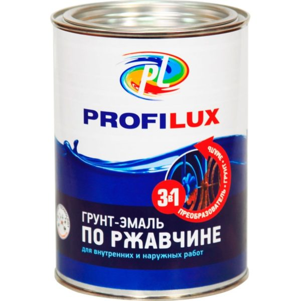 Грунт-эмаль по ржавчине серая PROFILUX 0,9кг