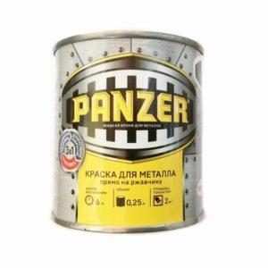 Краска для металла 3 в 1 гладкая черная PANZER 0,25л