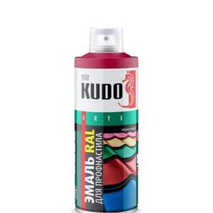 Эмаль аэрозольная для металлочерепицы и профнастила коричневая KUDO KU-08017R 520мл