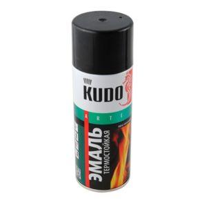 Эмаль аэрозольная термостойкая черная KUDO KU-5002 520мл