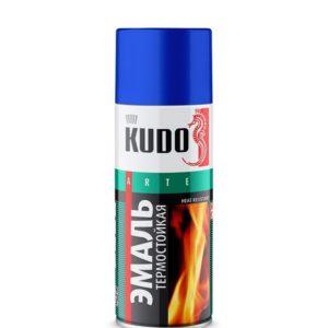 Эмаль аэрозольная термостойкая серебристая KUDO KU-5001 520мл