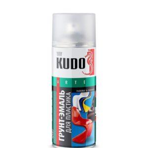 Грунт-эмаль аэрозольная для пластика белая KUDO 520мл
