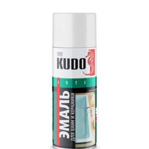 Эмаль аэрозольная для ванн и керамики белая KUDO KU-1301 520мл