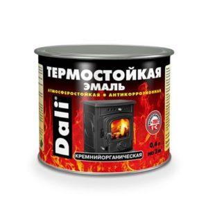 Эмаль термостойкая черная DALI 0,4л