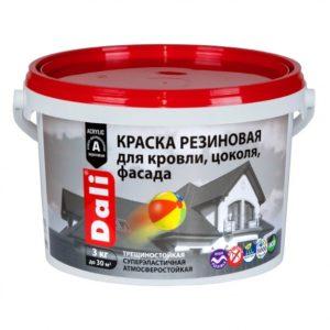 Краска резиновая универсальная красно-коричневая DALI 3кг