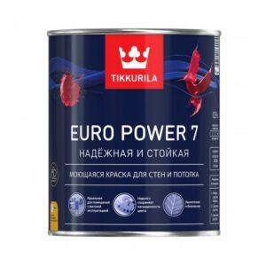 Краска в/д для внутренних работ моющаяся белая матовая TIKKURILA Euro Power 7  2,7л