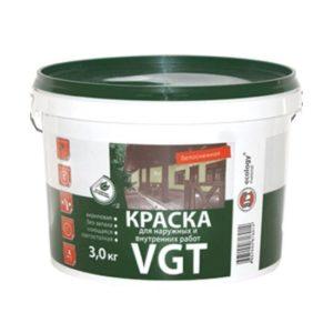 Краска в/д акриловая для потолков супербелая VGT 3кг