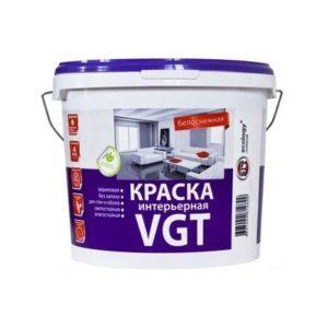 Краска в/д акриловая для внутренних работ белоснежная VGT Интерьерная 7кг