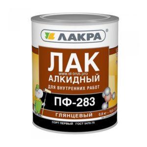 Лак алкидный глянцевый ЛАКРА ПФ-283 0,8кг