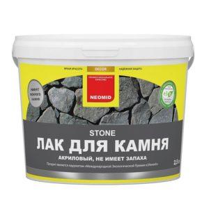 Лак акриловый для камня бесцветный NEOMID Stone 2,5л