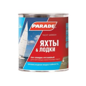Лак алкидно-уретановый универсальный полуматовый PARADE L20 Яхты & Лодки 0,75л